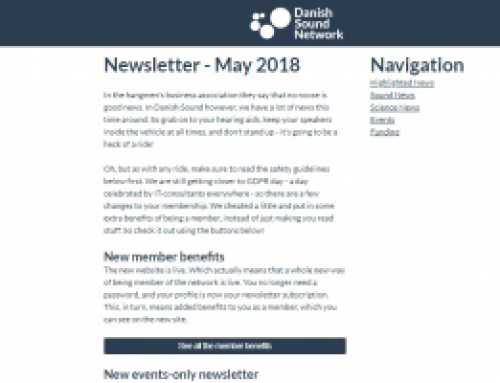 The May Newsletter